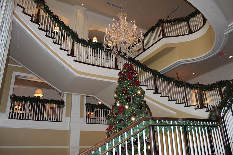 Holiday Decorations On Staircase