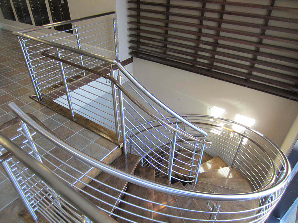 Curved Commercial Stairs