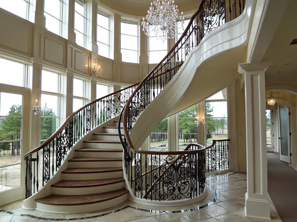 Luxury staircases residential stairs artistic stairs for Custom staircase design
