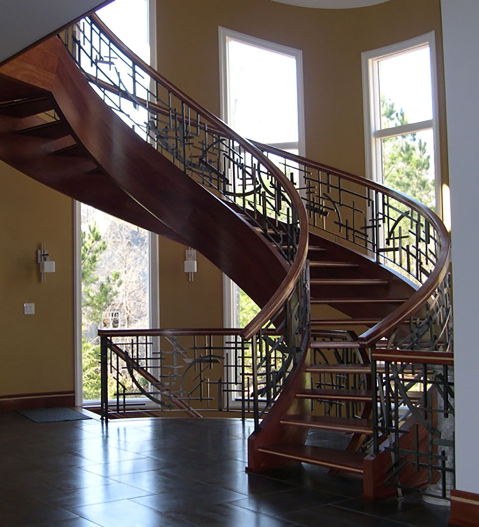 Luxury staircases residential stairs artistic stairs for Luxury staircases