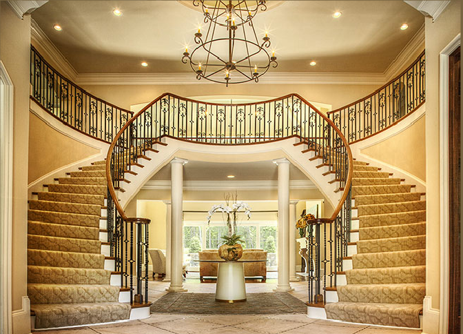 Curved stairs design construction artistic stairs for Double curved staircase