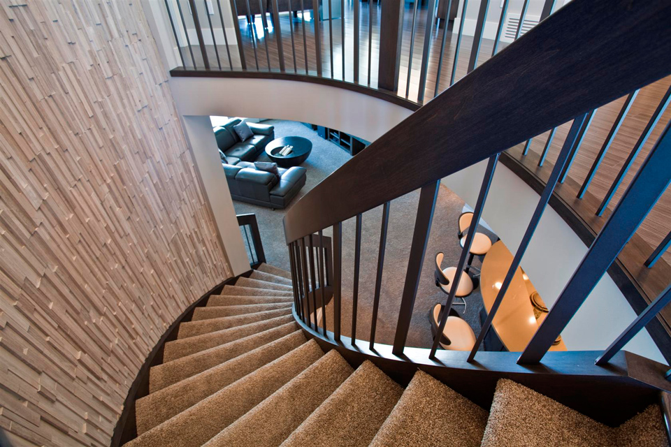 Custom Curved Stairs Residential