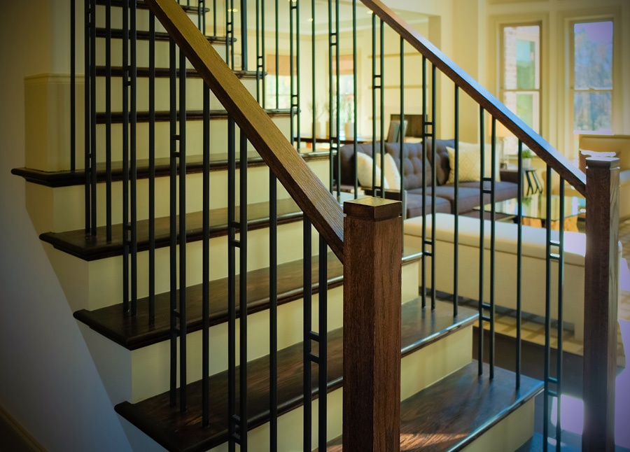 Modern Stair Railing Design Ideas further Watch in addition Straight Glass Stairs together with Mission Style further Folded Plate Stair. on wood and metal railings for stairs