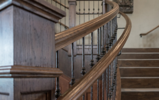 Custom Stairs with iron balusters