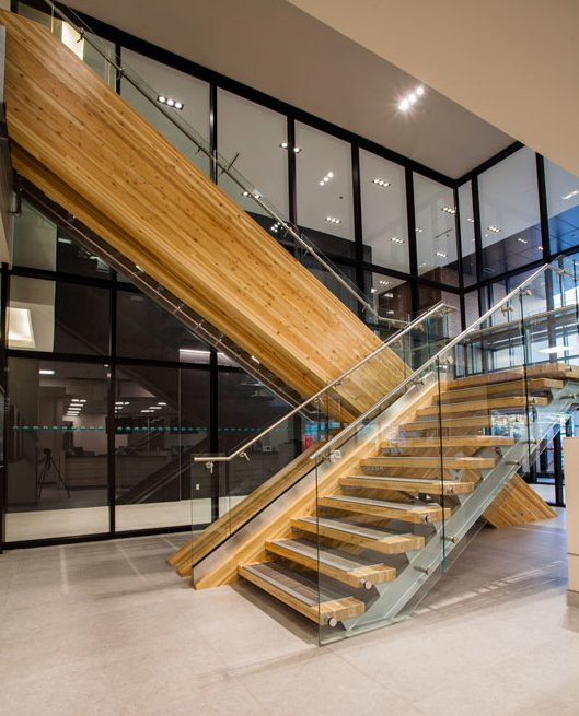 Commercial Staircase Project Artistic Stairs Canada